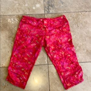 Pants - Pink and silver cropped leggings